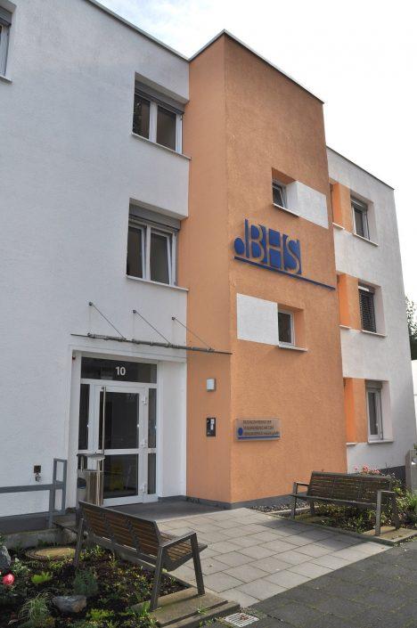 Eingang der Bildungsherberge der Studierendenschaft der FernUniversität Hagen
