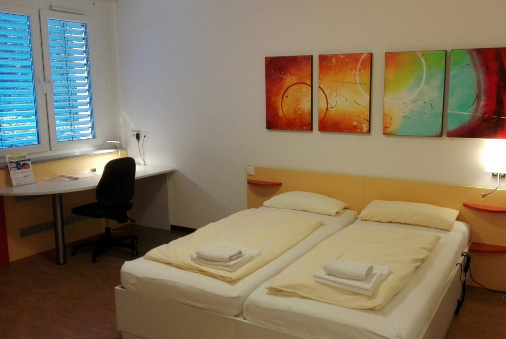Schwerbehindertengerechte Doppelzimmer der Bildungsherberge in Hagen