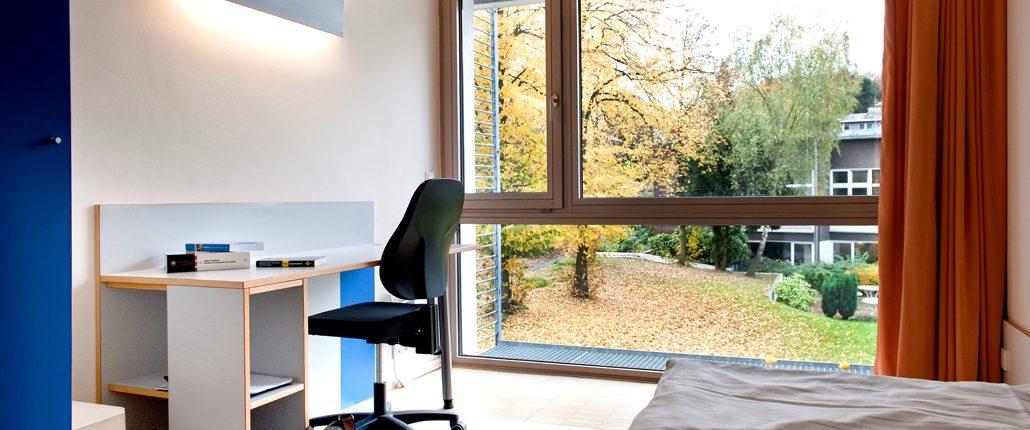 Einzelzimmer der Bildungsherberge in Hagen